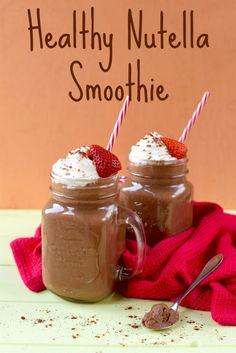 Healthy Nutella Smoothie - Healthy Nutella Smoothie – cups of non-dairy milk (we used almond milk) – 1 large banana – 2 tbsp cocoa powder (unsweetened) – 1 tbsp homemade Nutella Nutella Smoothie, Nutella Milkshake, Blackberry Smoothie, Milkshake Recipes, Easy Smoothie Recipes, Easy Smoothies, Nutella Snacks, Nutella Recipes, Smoothie Without Banana