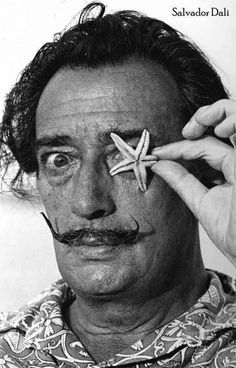 A great black and white portrait poster of Surrealist master painter Salvador Dali. Is there anyone more strange..? Ships fast. 11x17 inches. Art Lovers: Check our great selection of Salvador Dali pos
