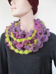 Purple necklace by elenashandmade on Etsy