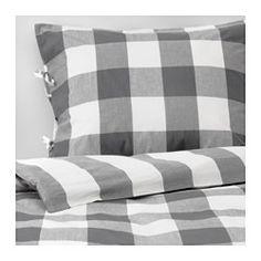 IKEA - EMMIE RUTA, Duvet cover and pillowcase(s), Full/Queen (Double/Queen),