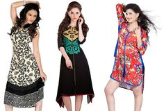 Be little smart and try different types of kurtis to create unique style…