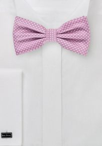 Orchid Color Bow Tie with Micro Dots