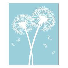 Modern Dandelion Art - Dandelion Prints - Floral Wall Art - Modern Floral Decor - Set of Three Floral Art Prints or Dandelion Canvas Art Art Floral, Art Mural Floral, Floral Prints, Art Prints, Dandelion Wall Art, Nursery Canvas, Art Moderne, Wall Art Sets, Canvas Artwork