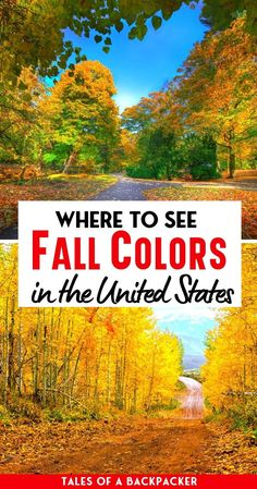 The Best USA Fall Destinations - I love seeing the leaves change colour, and one of my USA bucket list items is to see the fall foliage in New England. However, I know that isn't the only place to see the beautiful autumn colours, so I asked my fellow bloggers to share some of the best places to see fall foliage in the USA. | Fall Colors in the USA | Best Fall Destinations in the USA | Fall in the Unites States of America