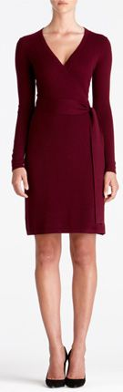 The DVF Layla dress is one of Diane's favorite silhouettes. Its sheer sleeves pair perfectly with feminine heels for a laid back elegance. Open V-neck with front pleat detail. 3/4 sleeves. Buttons at cuffs. In silk chiffon with lined bodice. Falls to mid thigh. Fit runs large.