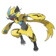 Learn How to Draw Zeraora from Pokemon (Pokemon) Step by Step : Drawing Tutorials Pokemon Pokedex, Pokemon Luna, Mega Pokemon, Strong Pokemon, Photo Pokémon, Mythical Pokemon, Pokemon Pictures, Moon Art, Pets