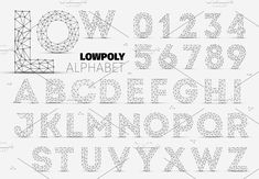 Vector Low Polygon Alphabet by Orson on @creativemarket