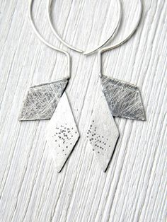 RESERVED just for NICOLE Origami Industrial Silver