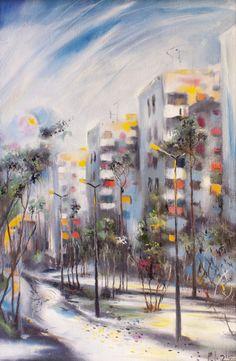 "Saatchi Online Artist: Boris Kasyanov; Oil 2012 Painting ""Early everning"""