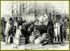 Huguenot arrivals in North America - Les arrives des Huguenots a l'Amerique du Nord - peinture