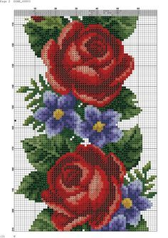 This Pin was discovered by Cem Beaded Cross Stitch, Cross Stitch Borders, Cross Stitch Rose, Cross Stitch Alphabet, Cross Stitch Flowers, Cross Stitch Designs, Cross Stitching, Cross Stitch Patterns, Cross Stitch Kitchen