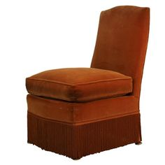 Classic French 40's small slipper chair | From a unique collection of antique and modern slipper chairs at https://www.1stdibs.com/furniture/seating/slipper-chairs/