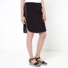 Skirt with Printed Taped Edging SOFT GREY - Skirts