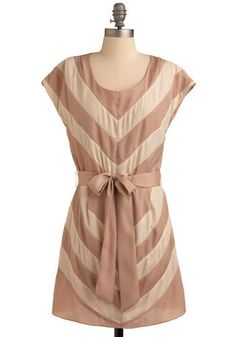 Love Inspired Dress from modcloth. romantic take on chevrons. want it. need it.
