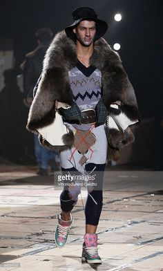 A model walks the runway during the Vivienne Westwood Milan Menswear Autumn/Winter 2010 show on January 17, 2010 in Milan, Italy.