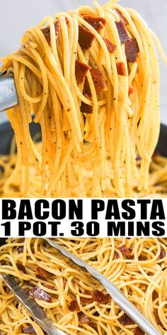 BACON PASTA RECIPE-