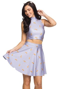 FOXY HIGH NECK CROP AND FOXY SKATER SKIRT SET From $45.00 AUD - $55.00 AUD