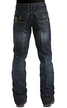 Cinch Trevor Dark Stonewash Flap Pocket Relaxed Fit Jean