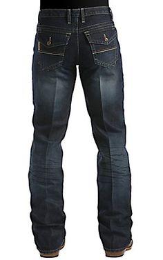 Cinch Trevor Dark Stonewash Flap Pocket Relaxed Fit Jean