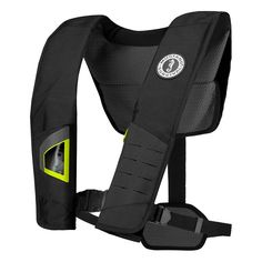 4633cabce6b DLX 38 Deluxe Manual Inflatable PFD - Black/Fluorescent  Yellow-GreenImproved comfort and functionality. A popular choice for kayak  fishermen, ...