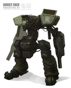 Ghost Face Robotic Combat System Picture  (2d, sci-fi, mech, military)