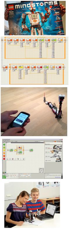 LEGO Mindstorms EV3 is the third edition in the Mindstorms series. Now with integration of Smartphone technology as gyrosensor and voice commands. The programming environment is using the wooden puzzle as a metaphor giving a good overview.