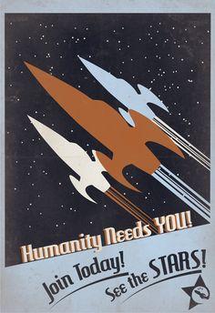 Rocketeer Recruitment Poster 13x19 Print by IndelibleInkWorkshop