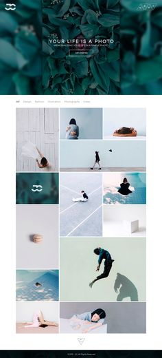 Portfolio Website Template on Behance