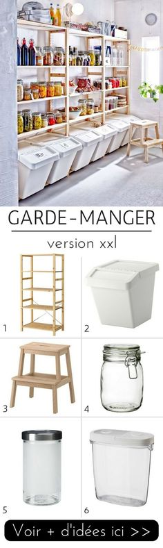 5 Idées de Garde-Manger Pratiques & Tendance à Copier ! Ikea Storage, Garage Storage, Food Storage, Storage Ideas, Craft Storage, Storage Solutions, Bin Storage, Basement Storage, Diy Garage