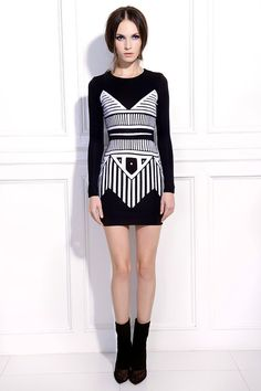 Greek Summer Bodycon Dress-Black
