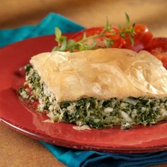 Greek Spinach Pie: This Greek favorite features a spinach and cheese filling that is baked between layers of phyllo