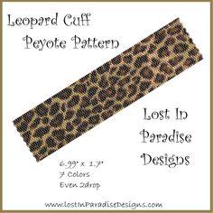 Leopard Cuff Peyote Bracelet Pattern
