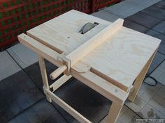 Get more use from your circular saw with this portable table saw.