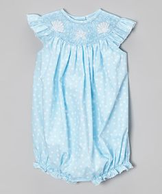 Look what I found on #zulily! Sea Shells Smocked Girl's Bubble by BeMine #zulilyfinds