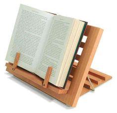 Atril de lectura de madera plegable   Para leer en la cama, en la cocina, . . .
