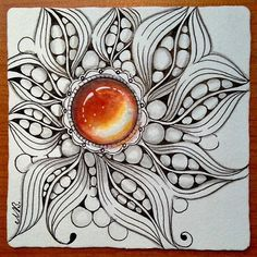 Shelly Beauch: More Zengems Zentangle Drawings, Doodles Zentangles, Zentangle Patterns, Tangle Doodle, Zen Doodle, Doodle Art, Zantangle Art, Zen Art, Tattoo Painting