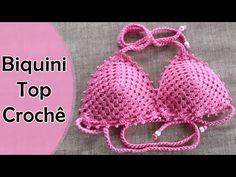Diy Crochet Bikini, Crochet Bra, Hippie Crochet, Crochet Bikini Pattern, Crochet Crop Top, Crochet Clothes, Baby Knitting Patterns, Crochet Patterns, Crochet Bathing Suits