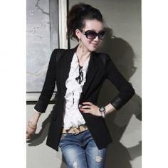 83ded813bacc  16.29 Elegant And Slimming Lapel Long Sleeve Blazer For Women Women Blazer