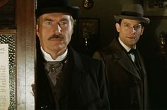 Sherlock and Watson.... It's always bad news for you if Sherlock is smiling and Watson is frowning