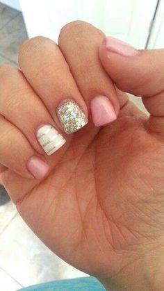 This is the length I want Pink Gel Nails, Gel Manicure, Acrylic Nails, Shellac, Nail Polish Designs, Cute Nail Designs, Nails Design, Fabulous Nails, Perfect Nails