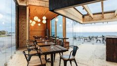 Timber building of the year Café Birgitta, Hernesaari, Helsinki, Finland Timber Buildings, Luxury Restaurant, Hotel Interiors, Outdoor Furniture Sets, Outdoor Decor, Helsinki, Log Homes, Pavilion, Interior Inspiration
