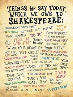 William Shakespeare's Influence on Our Language Today = William Shakespeare, Shakespeare Insults, Shakespeare Funny, Poetry Shakespeare, Book Quotes, Words Quotes, Me Quotes, Sayings, The Words