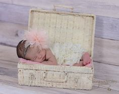 Baby Infant Photo Prop Basket Trunk With by braggingbags on Etsy, $45.00