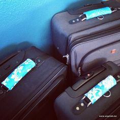 Why on earth are most luggage pieces black? To appeal to the masses, I suppose. But wow, it sure makes it hard to spot your luggage at the airport. This project fixes that problem. And i...