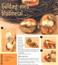 Guldæg med bladmetal
