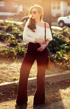 American Apparel Wide Leg pant on blogger Stiletto Beats