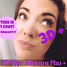 Younique's enhanced 3D Fiber Lashes Plus + No falsies - no glue! It's quick and easy to apply, goes on just like mascara!
