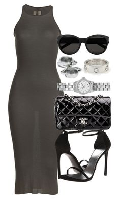 """""""Style #9196"""" by vany-alvarado ❤ liked on Polyvore featuring мода, Rick Owens, Chanel, Yves Saint Laurent, ASOS, Alexander McQueen и Cartier"""