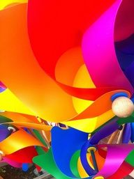 by livio vivanet, via Flickr | bright colrs + pink red orange yellow green blue purple + iphoneography