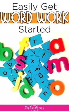 Be sure you have everything you'll need to get started with word work (word study) in your balanced literacy block. You'll see the best word work tools and a step by step guide on how to get it going in your classroom today! Guided Reading Activities, Guided Reading Lessons, Word Work Activities, Spelling Activities, Literacy Activities, Teaching Reading, Reading Tips, Reading Resources, Literacy Stations